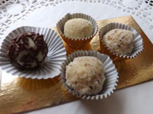 Truffes chocolat blanc