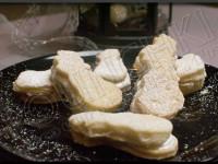 Biscuits bonhomme de neige au chocolat