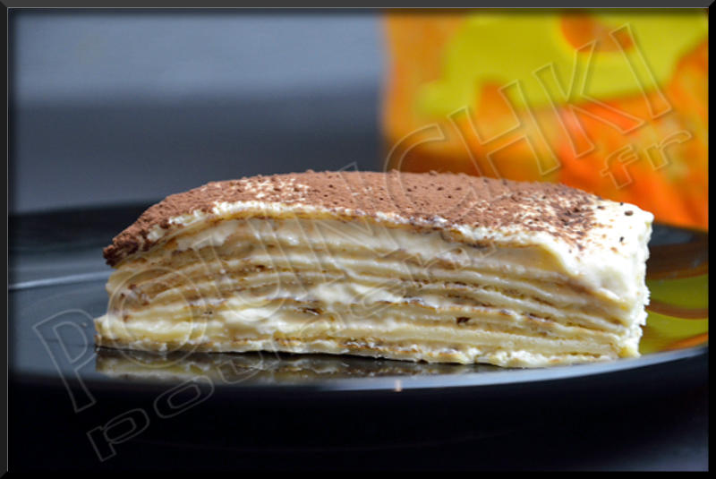 Gateau de crepes et mascarpone