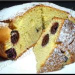 Gâteau cerises et pâte d'amande