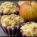 Muffins à la pâte d'amandes et aux pommes