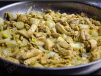 Poêlée d'endives au poulet et champignons